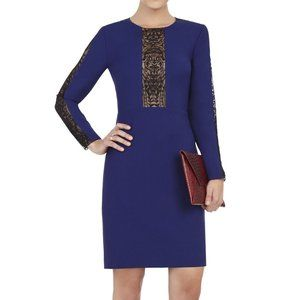 BCBG Eloisa Long-Sleeve Navy Dress